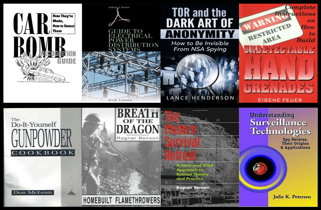 Quelques-uns des ouvrages proposés sur le site de la bibliothèque Anarchist Bookstore