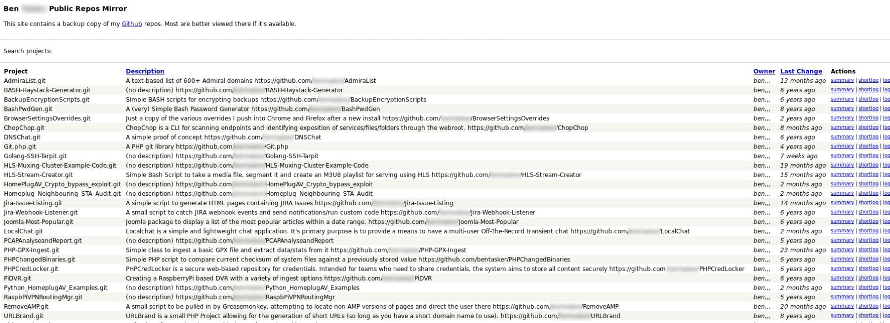 Le site personnel d'un développeur sur le Dark Web